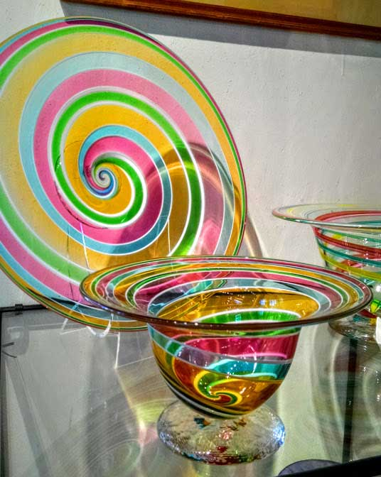 Hand Blown Glass spiral