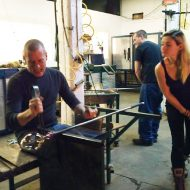 Bernard Katz Glass Studio final glassblowing party