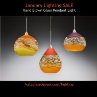 Hand Blown Glass Lighting Pendant January Sale 2017