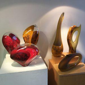 Contemporary art glass sculptures
