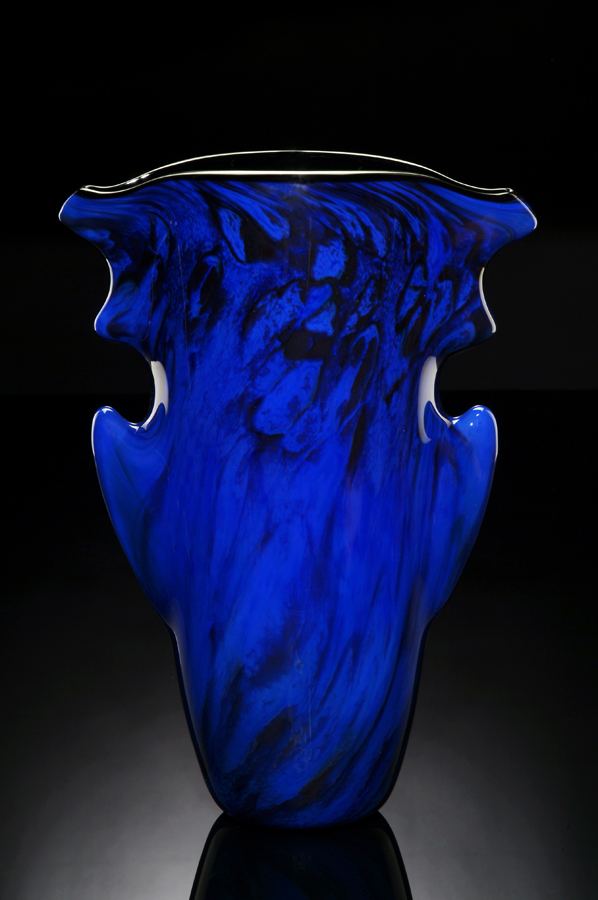 Blue Glass Aerolith Vase
