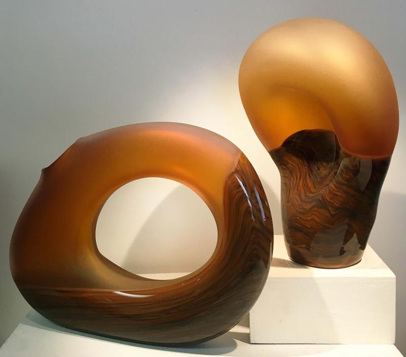 Cinnamon glass art sculptures