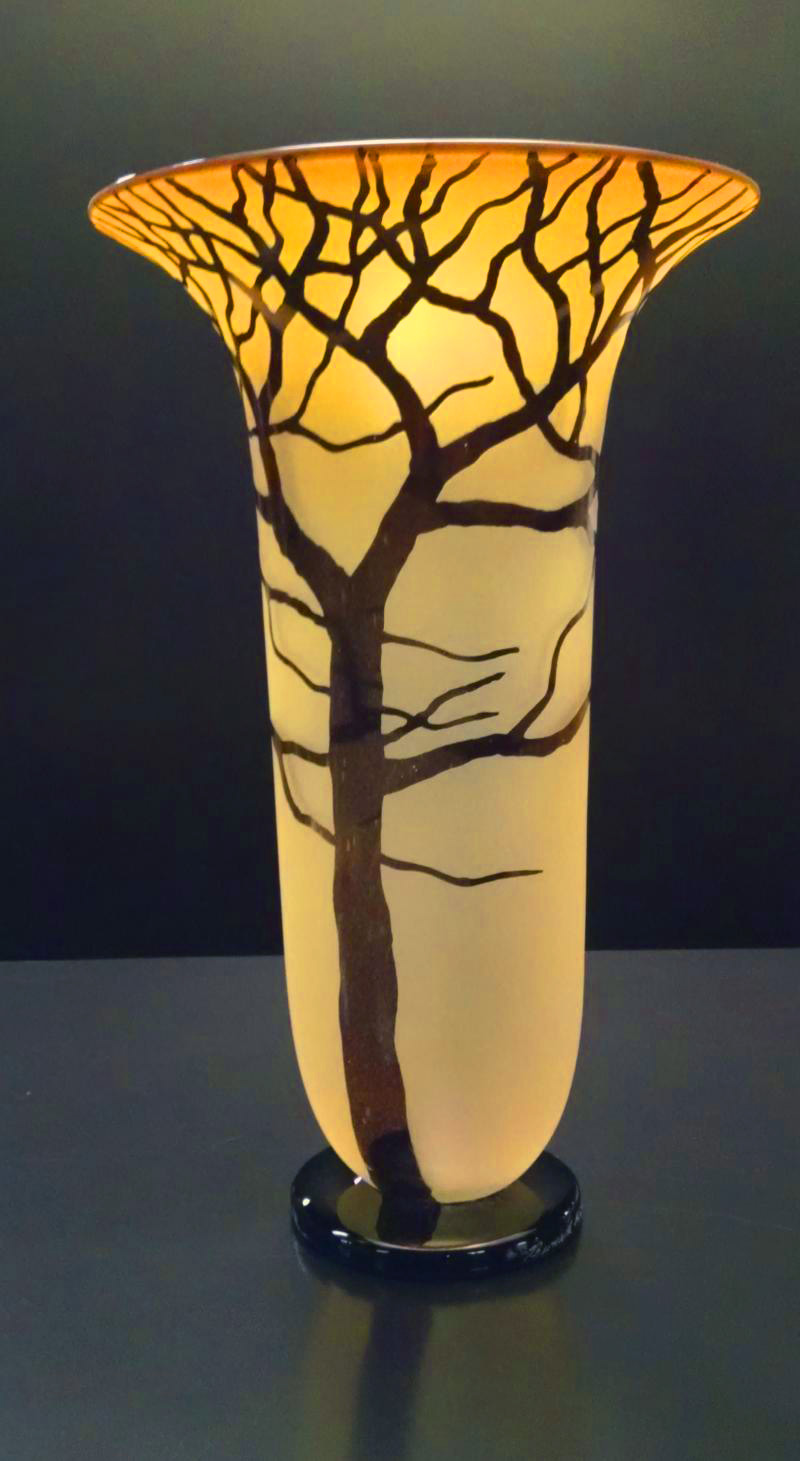 Gold Topaz Tree Vase