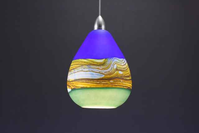 euro glass possini blue with light mini meriden art led colonial and frosted spanish pendant tin