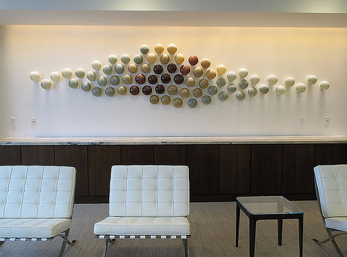 Wall Art Glass Installation