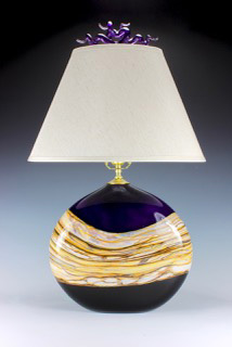 Amethyst Flattened Table Lamp