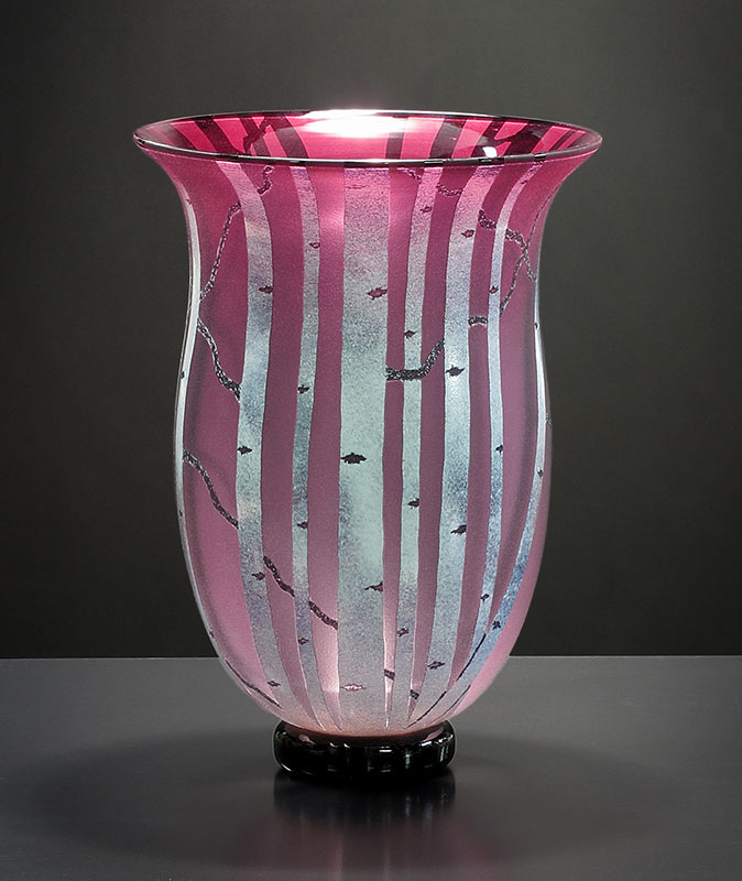 Reddish Amethyst Birch Vessel