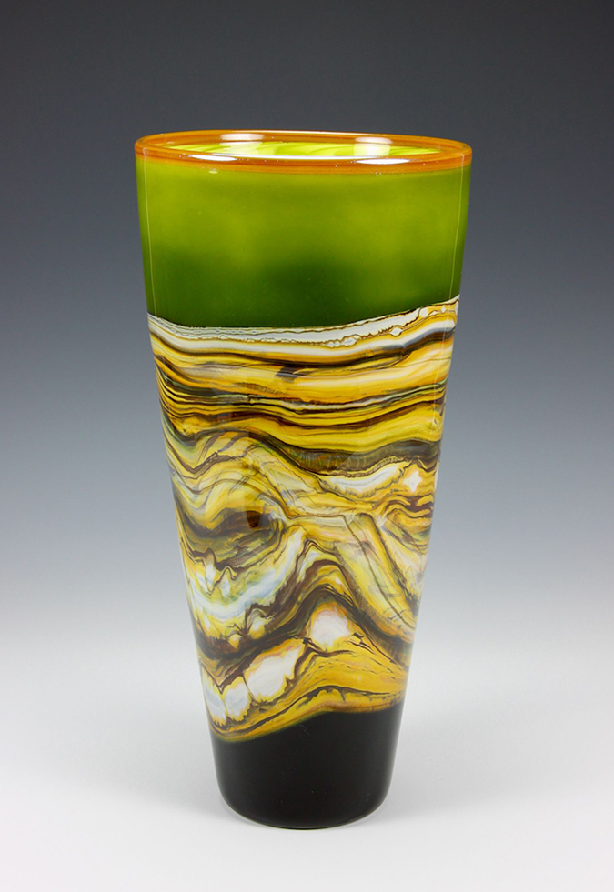 Lime Cone Vase