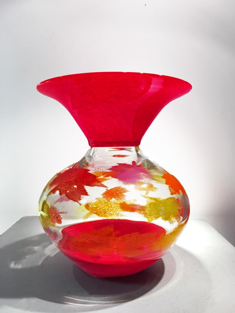 Red Foliage Vessel
