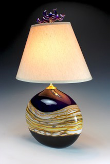 Glass Purple Lamp Shade