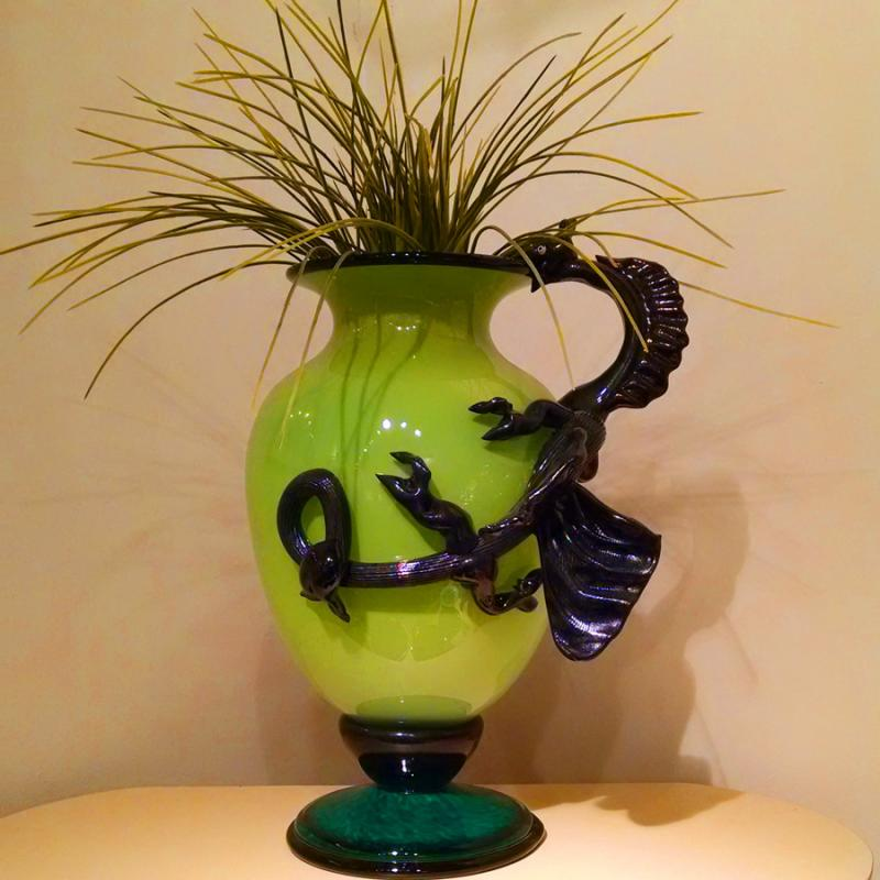 Green Dragon Vase