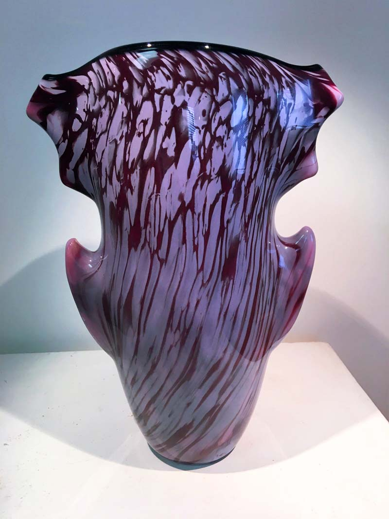 Purple Glass Art Aerolith Vase