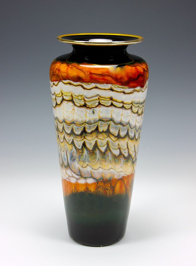 Black Opal Tangerine Glass Vase