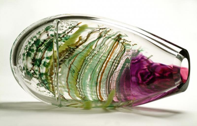 Purple Maglione Glass Sculpture