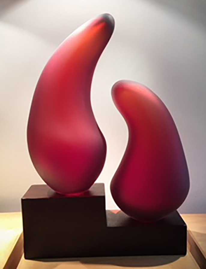 Red Shidoni Glass Sculptures