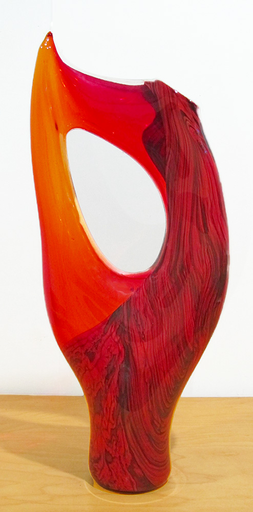 Red Transparent Vilano Sculpture
