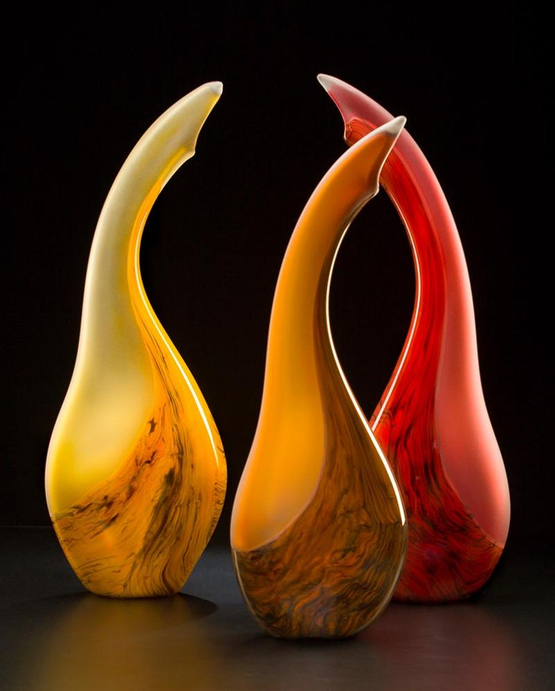 Salinas Art Glass Trio