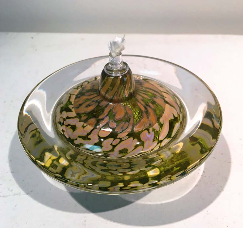 Lime Saturn Oil Lamp