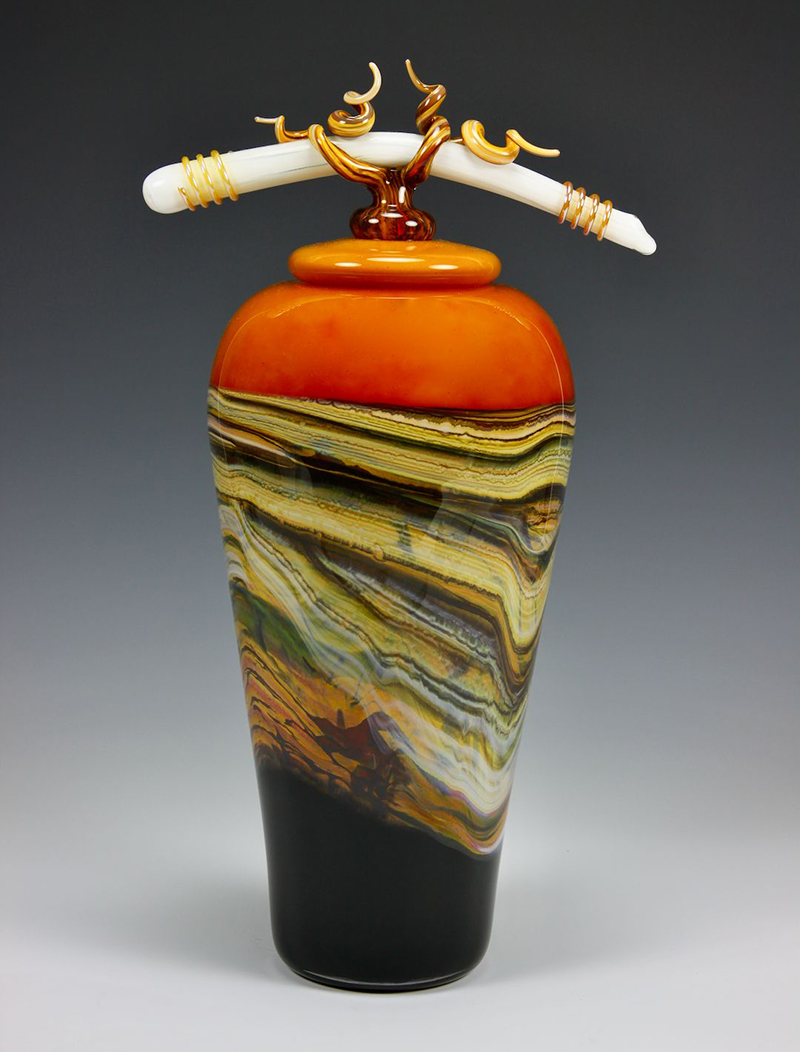 Strata Tangerine Glass Jar