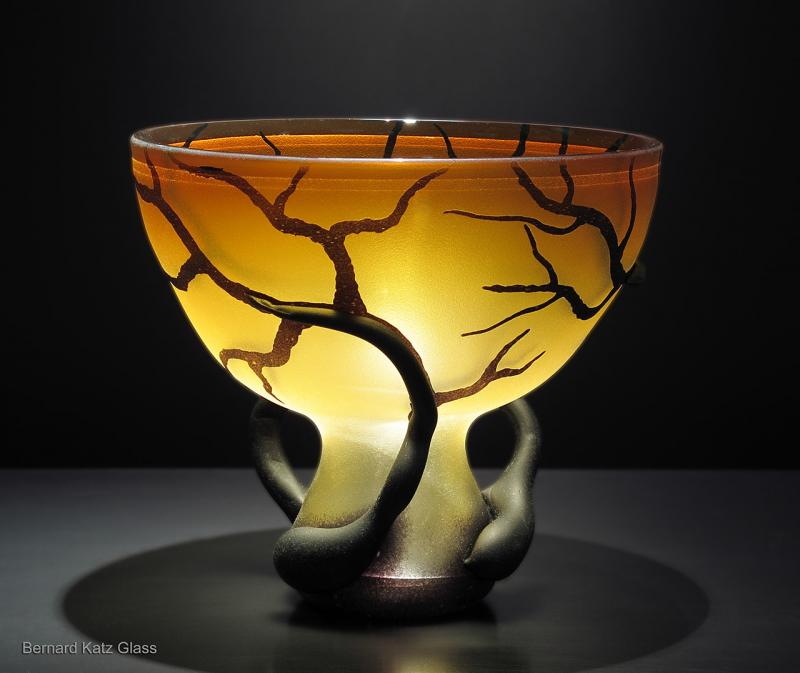 Gold Topaz Chalice Root Vessel
