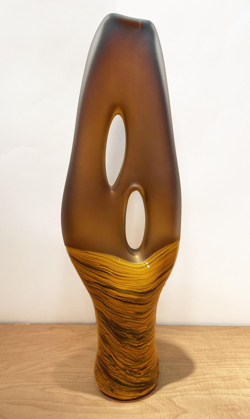 Yellow Gold Amber Trans Terra Ceia sculpture
