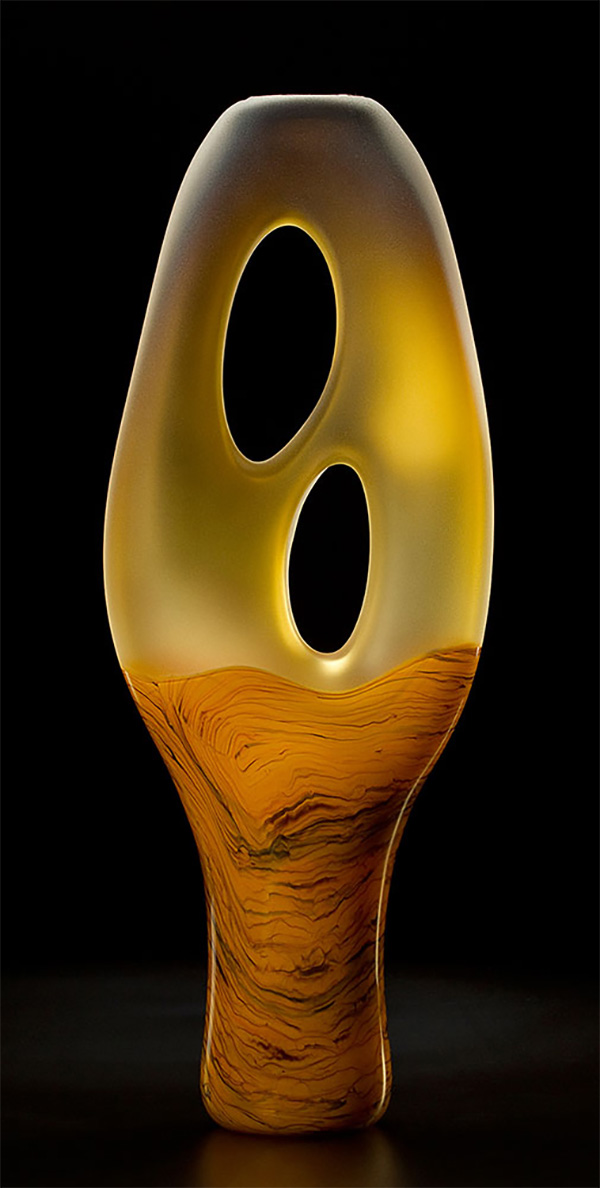 Yellow Trans Terra Ceia Glass Sculpture